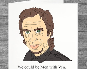 Peep Show   Super Hans   Birthday card   Greetings card   Men with Ven