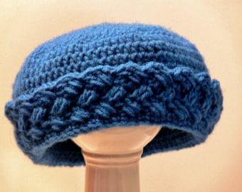 Crochet Pattern - Girls Hat, Hat with Brim, Winter Hat, Sizes Baby, Toddler, Girls, Teen, Ladies, Womens, Large Meadowvale Studio # 119