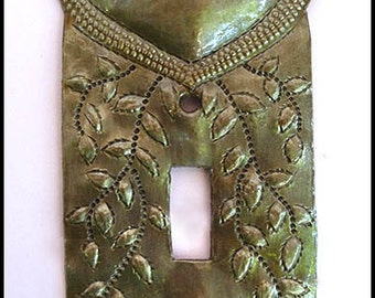Metal Switch Plate - Metal Light Switchplate Cover - Light Switch Cover - Light Switch - Haitian Metal Art - Switch Plate Covers - HS-109-1