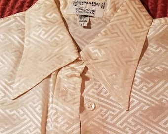 Christian Dior for Bergdorf Goodman silk dress shirt