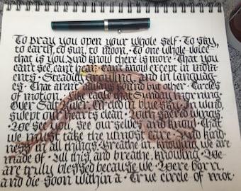 Example Custom Calligraphy Art Poem Joy Harjo Eagle Poem