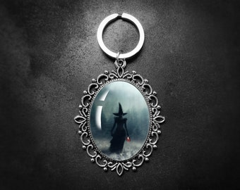 Witch Keychain, Mothers Day Gift, Fairytale Gifts, Art Keyring, Wizard Of Oz, Fairytale Gifts, Mini Art, Gifts For Her, Gothic Gifts, Wicked
