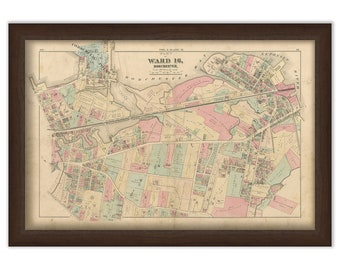 Map of Part of Dorchester - 1874 Ward 16 Plate N. - 0094