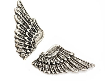 Wing Cuff Links SOLDERED - Cuff Wings - Antique Silver Winged Cufflinks - The Flight Series Cufflink - SOLDERED Detailed Feather Cuff Link