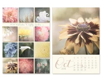 2018 Desk Calendar - Christmas Gift for Her - Nature Photography Calendar - 5x7 Easel Calendar - Flower Photo Calendar - Home Office Decor