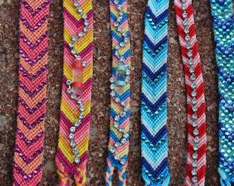 Friendship Bracelets - embellished/bedazzled
