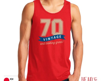 70th Birthday, 1946 Birthday, 70th Birthday Gift, Men's Tank Top, 70th Birthday Idea, 70th Birthday Party, For Fashion Conscious 70 Year Old