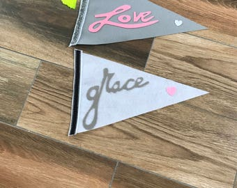 Love and grace pennants