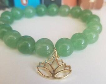 Lily Pad Beaded Bracelet