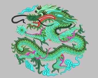 Dragon Embroidery design - Machine embroidery design big embroidery Dragon