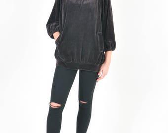 Unique, handmade velvet jumper