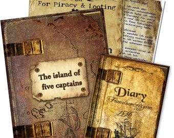 The Island of 5 Captains - Interactive scavenger and treasure hunt for children's birthday & pirates party