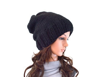 Knitted Unisex Slouchy Hat Beanie Toque | The Oasby