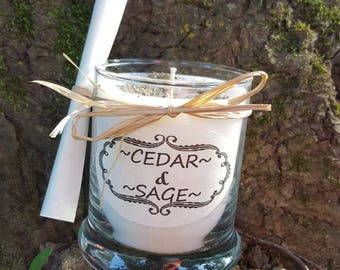 Full moon charge candle with crystal