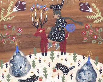Winter Deer Print