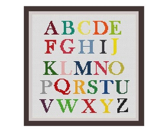 Instant Download. ABS. Alphabet Counted Cross Stitch Pattern. Capital Letters Pattern. PDF  Pattern. Alphabet Letters.