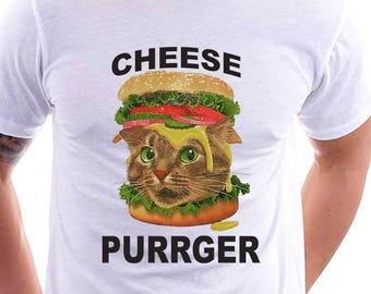 Cheese Purrger T-shirt Cat Lover Shirt