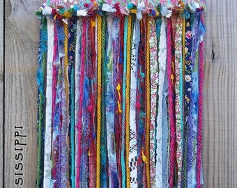 Boho Gypsy Hippie Peace Dove Garden Painting Fabric Wall Hanging