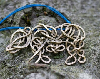 Celtic Knotted Bear Pendant