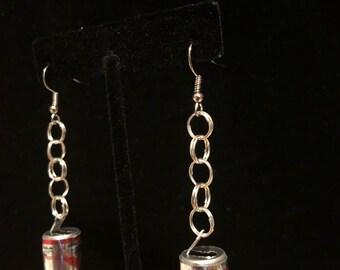Beer can earrings