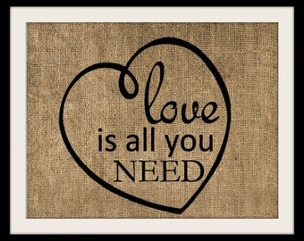 Burlap Art, Love is All You Need