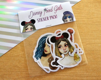 Disney Food Girl Sticker Pack