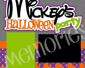 Scrapbook Page Kit Mickey's Halloween Party Premade Scrapbook Pages 2-page 12X12 Scrapbook Page Kit or Premade Layout