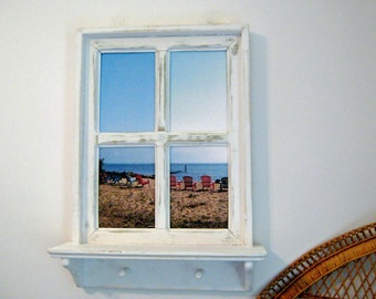 Beach Photo Coastal Decor Beach Wall Art Framed Beach Wall Art Fake Window Ideas Wood Window Ideas Window Frame Beach Decor Beach Wall Art