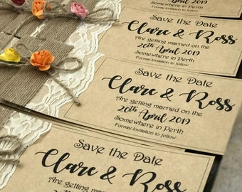 Rustic autumn Save The Date Cards x50