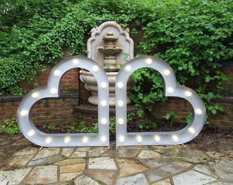 4ft light up Love Hearts