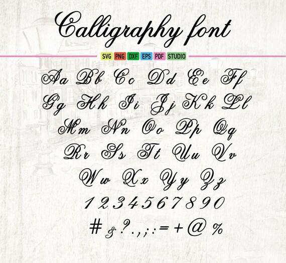Wedding Calligraphy Svg Font Dxf Eps Digital Monogram