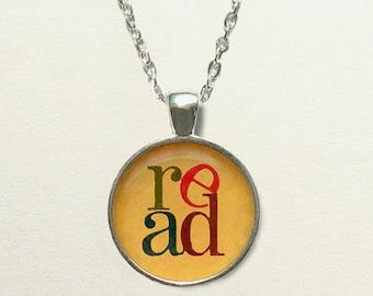 Read Book Necklace, book jewelry, book pendant, librarian gift, for librarian jewelry, librarian necklace, library jewelry, bookworm gift
