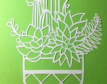 Cactus Garden –papercut