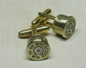 Bullet Cufflinks 44-40 Winchester Brass - Wedding Gift Cufflinks