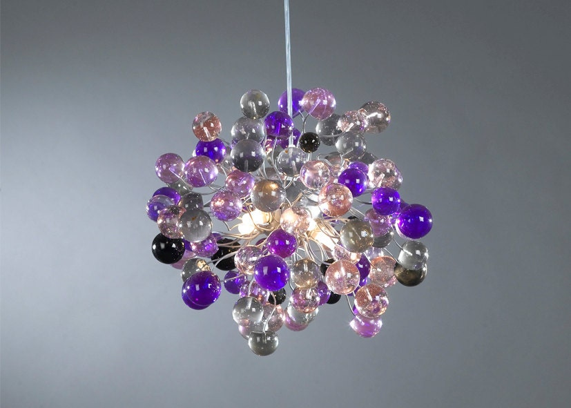 Ceiling light fixture purple shade color bubbles for children zoom mozeypictures Images