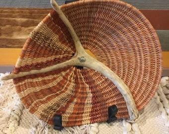 "Handmade Antler Basket - ""Squash"""