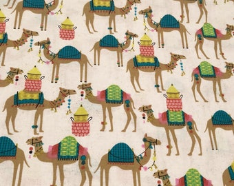 Camel fabric fabric by the yard cotton fabric by the yard camel print camels fabric animal fabric animal print novelty fabric desert fabric