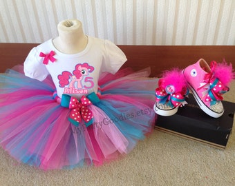 Pink Pony outfit,little Pony,Pink pony,pink and turquoise tutu,Pony theme.