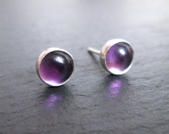 Amethyst Stud Earrings - Amethyst Studs, Gemstone Earrings, Purple Studs, Gift Jewellery, Gifts for Her, Christmas Gift