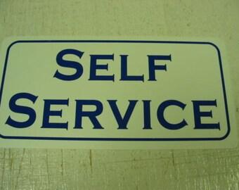 SELF SERVICE Metal Sign Gas Station Pump