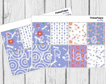 Dragonfly Stickers Full Box Planner Stickers  PS151 Fits Erin Condren