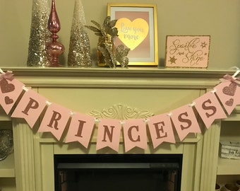 Glitter 1st Birthday -Princess 1st Birthday Banner