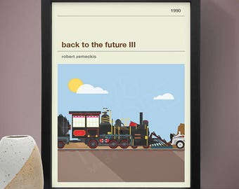 Back To The Future III Inspired Movie Poster Film Print