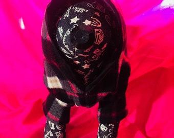Handmade dog hoodie
