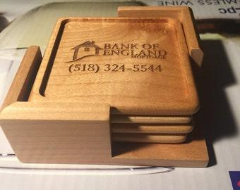 Set of (4) Custom Engraved Coasters