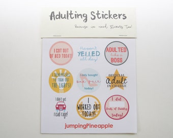 Adulting Stickers | Adult Planner Stickers | Teacher Gifts | Adult Reward Stickers