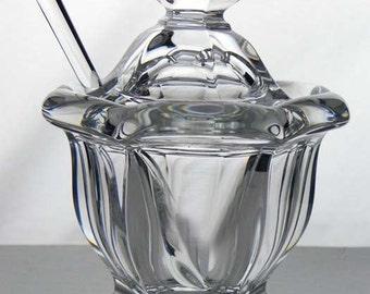 Baccarat France Crystal Missouri Mustard Jar Spoon