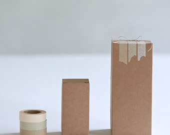 Set of 70- 2x2x3 inch Kraft Gift Boxes