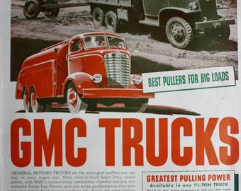1941 ad GMC Truck Vintage Print Ad ETK312