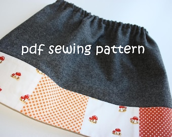 Toddler patch skirt - PDF sewing pattern